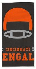 Cincinnati Bengals Vintage Art Beach Towel by Joe Hamilton
