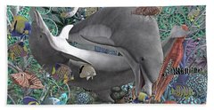 Circle Of Friends Beach Towel by Betsy Knapp