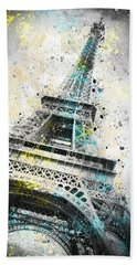 City-art Paris Eiffel Tower Iv Beach Sheet by Melanie Viola
