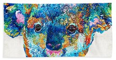 Colorful Koala Bear Art By Sharon Cummings Beach Sheet by Sharon Cummings