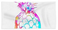 Colorful Pineapple Beach Towel by Dan Sproul