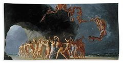 Come Unto These Yellow Sands Beach Sheet by Richard Dadd
