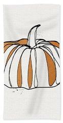 Contemporary Pumpkin- Art By Linda Woods Beach Towel by Linda Woods