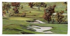 Cordevalle Golf Course Beach Sheet by Guido Borelli