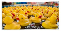 County Fair Rubber Duckies Beach Towel by Todd Klassy
