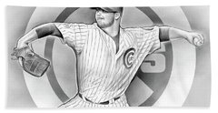 Cubs 2016 Beach Towel by Greg Joens