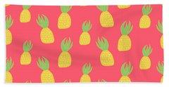 Cute Pineapples Beach Sheet by Allyson Johnson