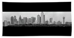 Dallas In Black And White Beach Sheet by Jonathan Davison