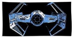 Darth Vaders Tie Figher Advanced X1 Tee Beach Towel by Edward Fielding