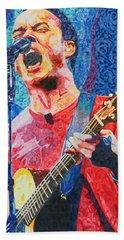 Dave Matthews Squared Beach Sheet by Joshua Morton