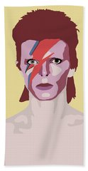 David Bowie Beach Towel by Nicole Wilson