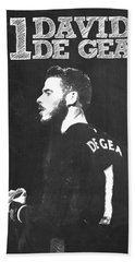 David De Gea Beach Towel by Semih Yurdabak