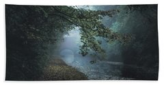 Dawn On The Canal Beach Towel by Chris Fletcher