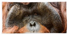 Deep In Thought Beach Towel by Jamie Pham