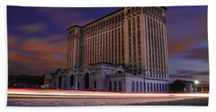Detroit's Abandoned Michigan Central Station Beach Towel by Gordon Dean II