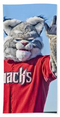 Diamondbacks Mascot Baxter Beach Towel by Jon Berghoff