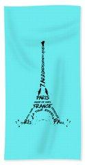 Digital-art Eiffel Tower Beach Sheet by Melanie Viola