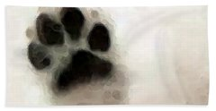 Dog Art - I Paw You Beach Towel by Sharon Cummings