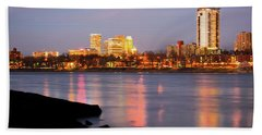 Downtown Tulsa Oklahoma - University Tower View Beach Towel by Gregory Ballos