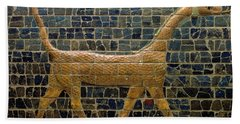 Dragon Of Marduk - On The Ishtar Gate Beach Towel by Anonymous