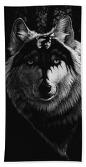 Dragon Wolf Beach Sheet by Stanley Morrison