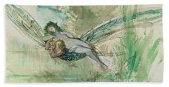 Dragonfly Beach Sheet by Gustave Moreau