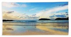 Dramatic Scene Of Sunset On The Beach Beach Sheet by Setsiri Silapasuwanchai