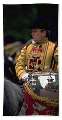 Beach Towel featuring the photograph Drum Horse At Trooping The Colour by Travel Pics