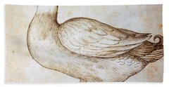 Duck Beach Towel by Leonardo Da Vinci