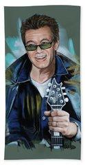 Eddie Van Halen Beach Sheet by Melanie D