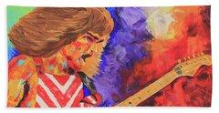 Eddie Van Halen Beach Sheet by Robert Kirsch