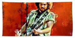 Eddie Vedder Painting Beach Towel by Scott Wallace