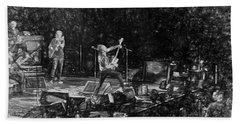 Eddie Vedder Rock God Pose Pearl Jam Beach Towel by Toby McGuire