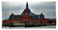 Ellis Island No. 49 Beach Sheet by Sandy Taylor