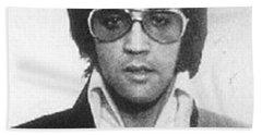 Elvis Presley Mug Shot Vertical Beach Towel by Tony Rubino