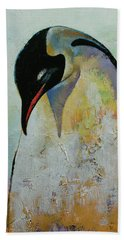 Emperor Penguin Beach Towel by Michael Creese