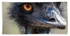 Emu Eyes Beach Towel by Paul Freidlund