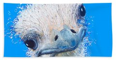 Emu Painting Beach Towel by Jan Matson