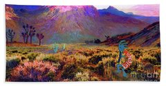 Enchanted Kokopelli Dawn Beach Towel by Jane Small