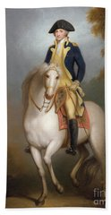 Equestrian Portrait Of George Washington Beach Sheet by Rembrandt Peale