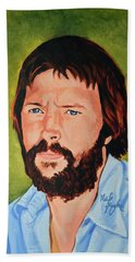 Eric Clapton Beach Towel by Neil Feigeles
