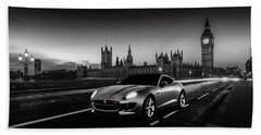 F-type In London Beach Sheet by Mark Rogan