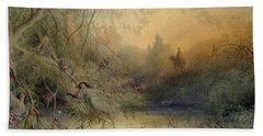 Fairy Land Beach Towel by Gustave Dore