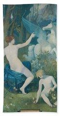Fantasy Beach Towel by Pierre Puvis de Chavannes