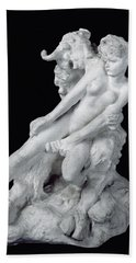 Faun And Nymph Beach Sheet by Auguste Rodin