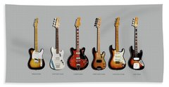 Fender Guitar Collection Beach Sheet by Mark Rogan