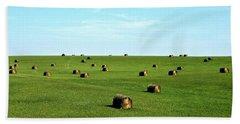 Fields Of Green Beach Sheet by Mark Mickelsen