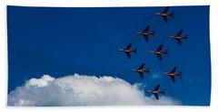Fighter Jet Beach Sheet by Martin Newman