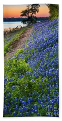 Flower Mound Beach Towel by Inge Johnsson