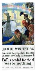 Food Will Win The War Beach Sheet by War Is Hell Store